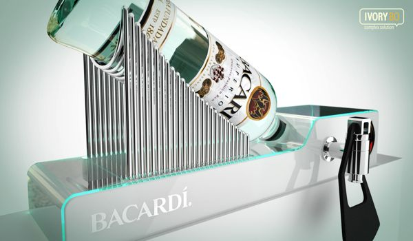 Bacardi Superior Display by Dmitry Gelishvili, via Behance