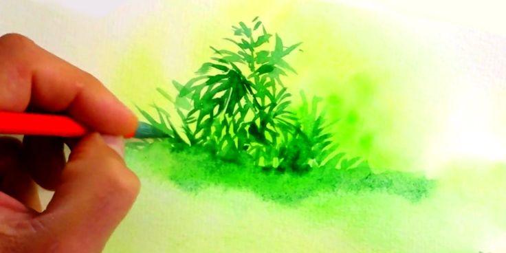 1000 id es sur le th me tutoriels peinture aquarelle sur for Peindre facilement