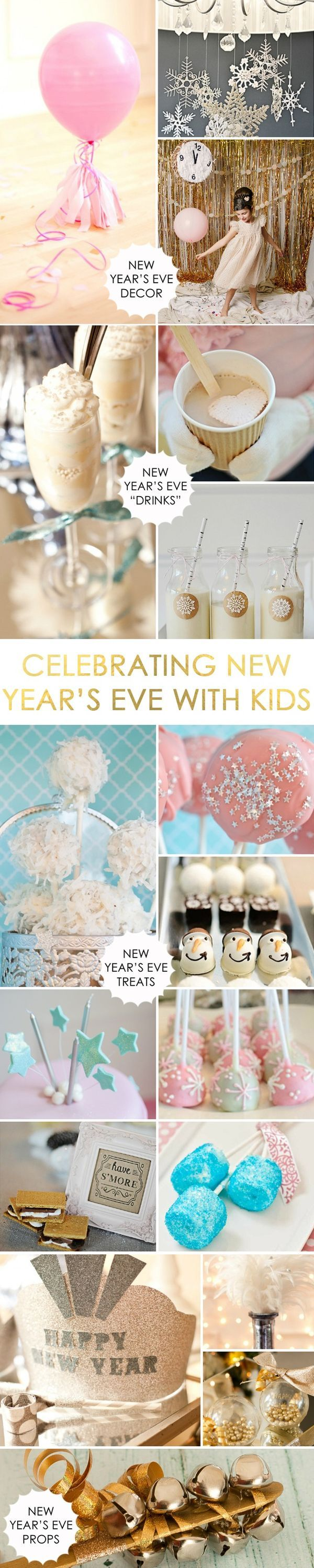 Ideas for Celebrating New Years Eve with Kids - #NYE
