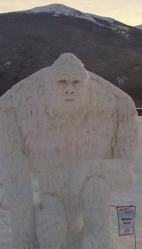 Way to Go Marmot Basin!!  This is the snow Yetti from Jasper in January!!!  Love it!!!