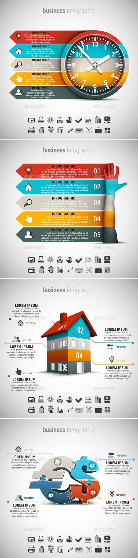 4 in 1 Business Infographics Template Bundle. Download here: http://graphicriver.net/item/4-in-1-business-infographics-bundle/15463546?ref=ksioks