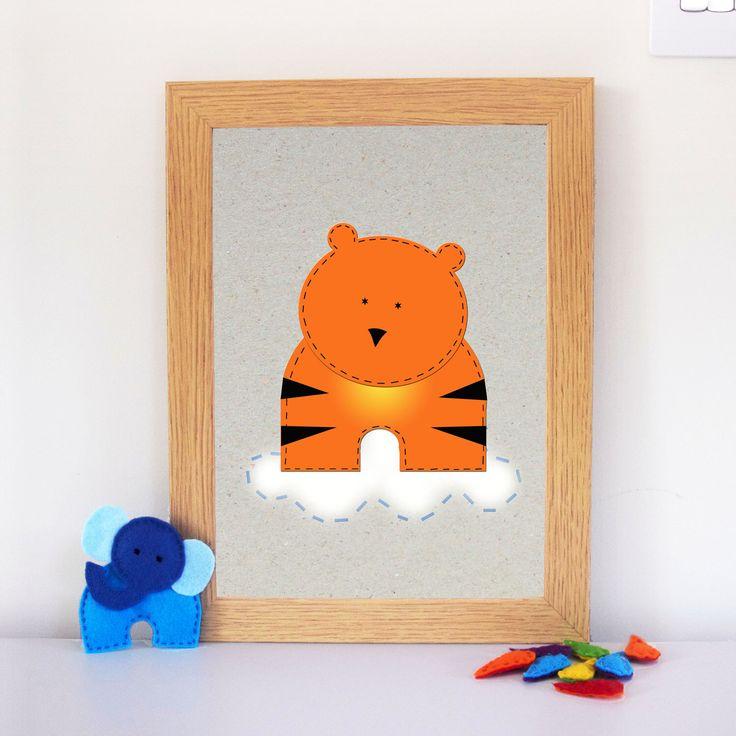 Cute little stripy orange guy to sit on your nursery wall ☺️  #InternationalTigerDay #tiger #wallart #nurserydecor