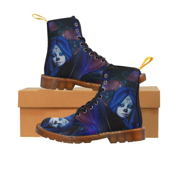 Sugar Skull Girl Martin Boots For Women Model 1203H