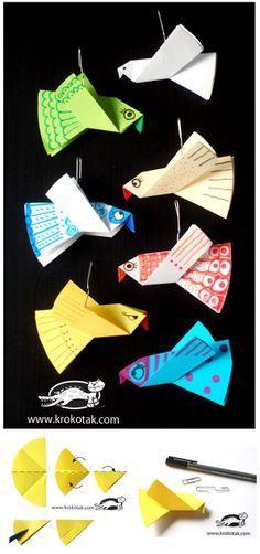 (oricami passaro) Ocells de paper                                                                                                                                                     Mais
