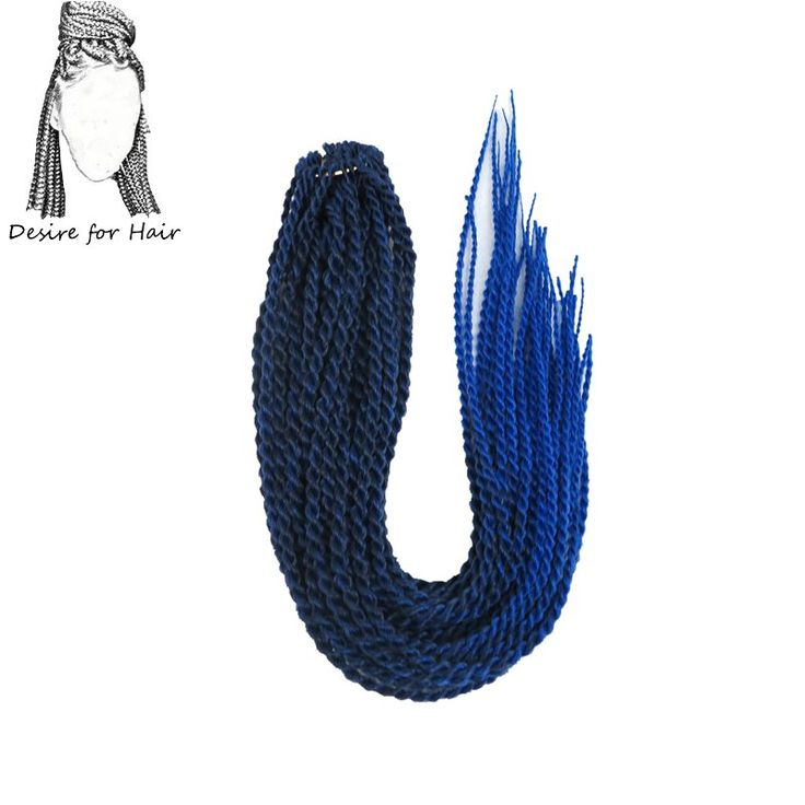 Desire for hair 1pack 22inch 100g 30strands 2X crochet senegalese twist braids hair ombre black blue purple grey color