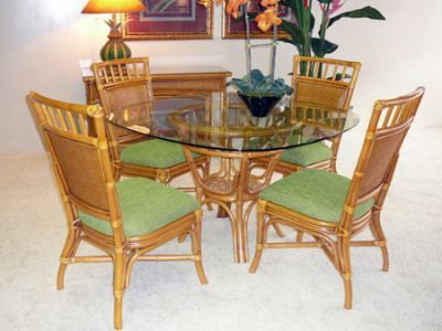 Angelina Dining Set Natural Features A Rattan Base With Matching Side Chairs The Finish Warm Umber Glaze Is Fresh Look On