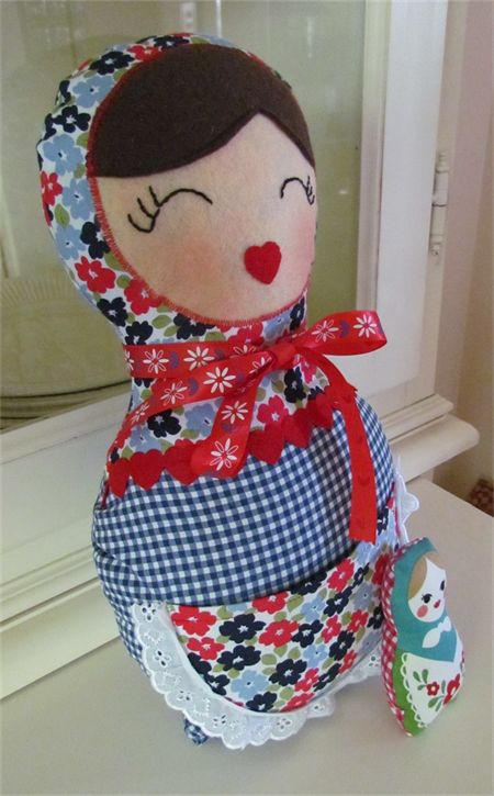 Babushka soft doll with baby - Lizzie's Lovelies on Madeit