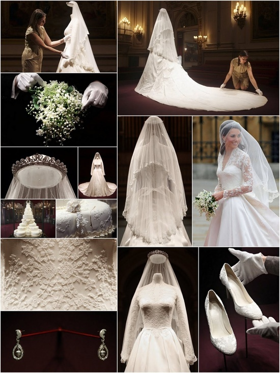 Hrh catherine duchess of cambridge wedding collage she for Wedding dress princess kate