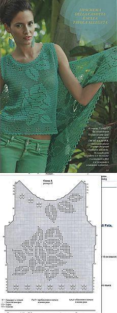 Crochet Top - Chart ❥ 4U hilariafina  http://www.pinterest.com/hilariafina/