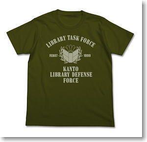 Toshokan Senso Kakumei no Tsubasa Library Task Force the Movie Edition T-shirt Moss XL (Anime Toy)