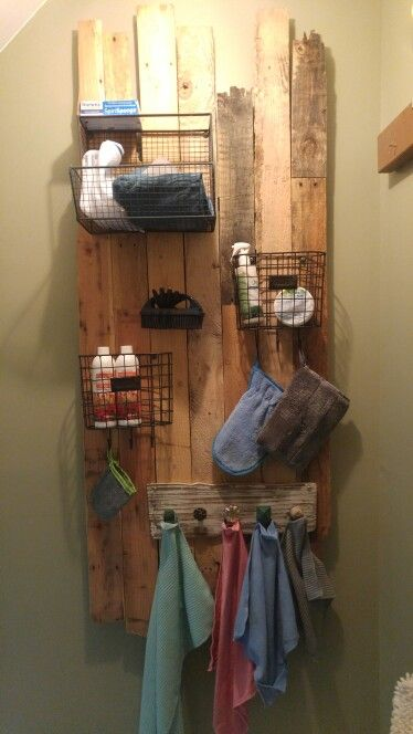 Homemade pallet Norwex storage!