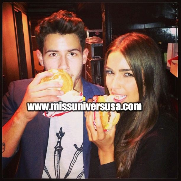 Nick Jonas and Miss Universe Olivia Culpo together ! - http://missuniversusa.com/picture-of-nick-jonas-and-miss-universe-olivia-culpo-together/