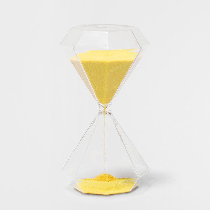 Reloj de arena líneas geométricas