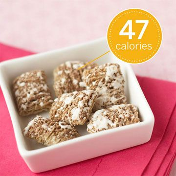 Low-Calorie Cereal Six Mini-Wheats will cost you just 47 calories--and you'll get a gram of filling fiber, too. Nutrition facts for six Mini-Wheats: 47 calories, 0 g fat, 0 mg cholesterol, 0 mg sodium