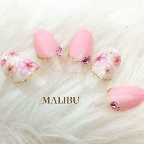 ♡新作♡桜ネイル の画像|恵比寿プライベートネイルサロンMALIBU