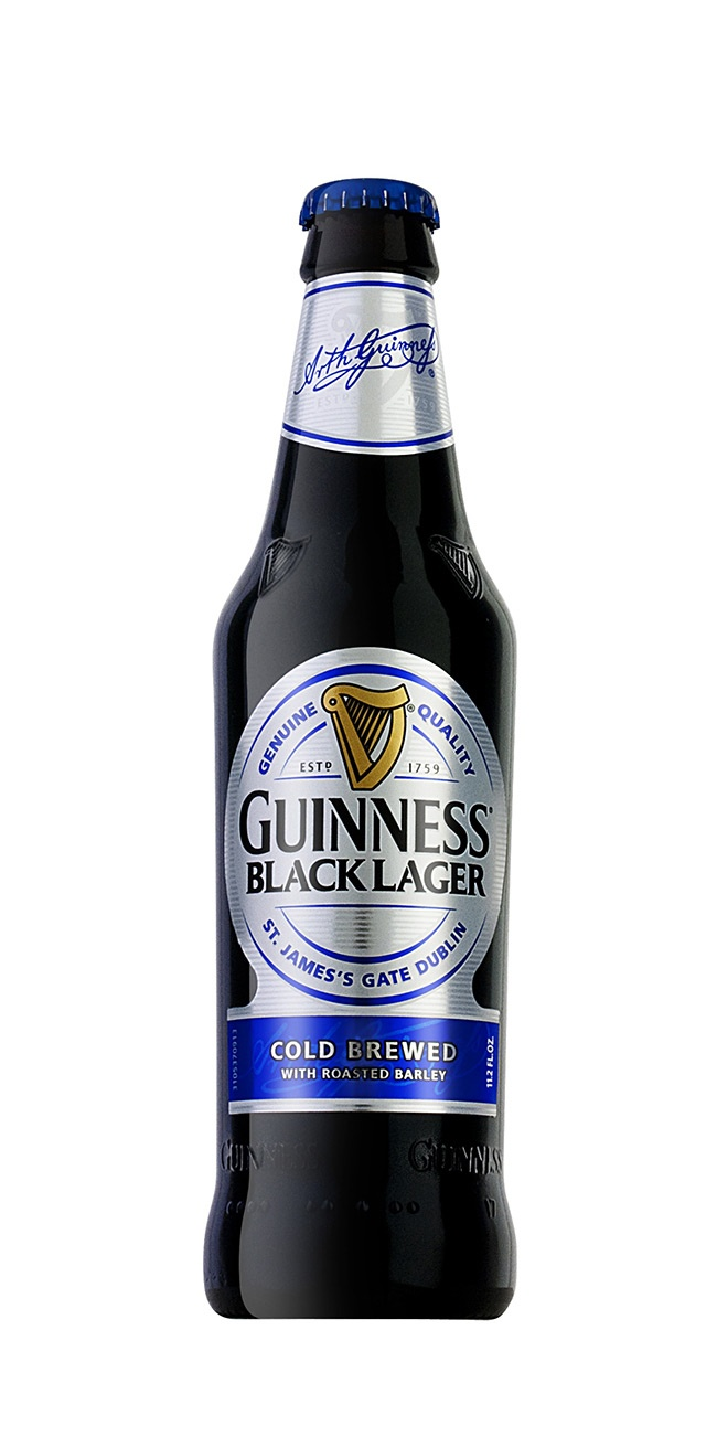 Guinness Black Lager - now available all over Ireland and the US.