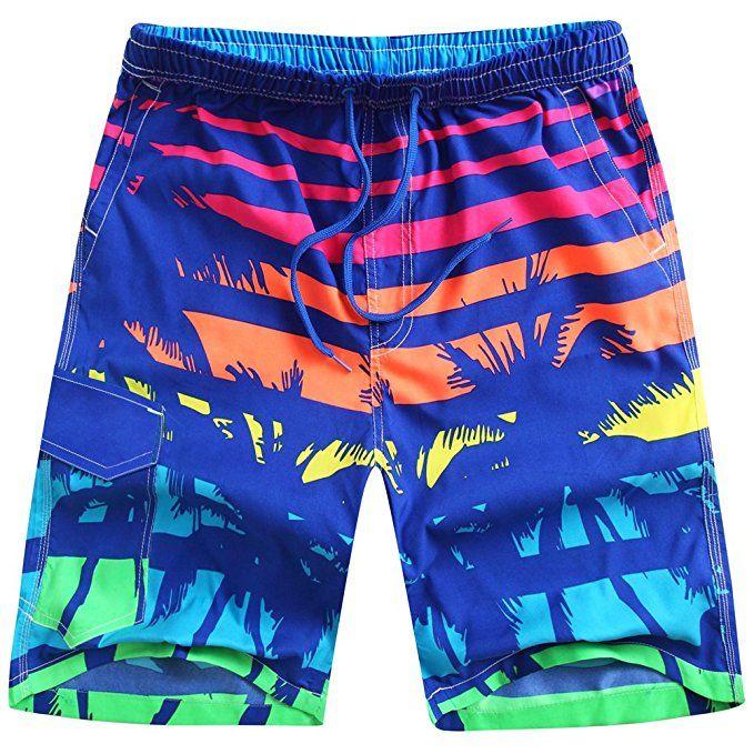 Mens Swimming Board Surf Shorts Trunks Beachwear Beach Casual Swimwear Summer WA