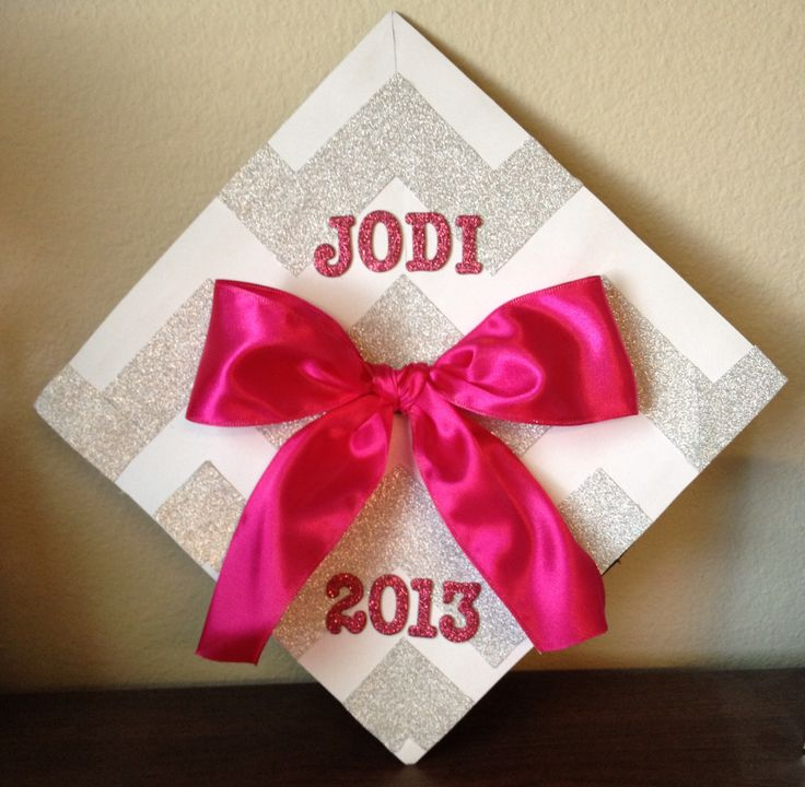 Just because it is almost that time of year again! Graduation cap decorating! Chevron print
