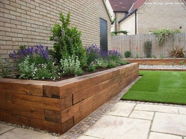 Landscape Edging Rustic : Best ideas about wooden garden edging on path front gardens and rustic