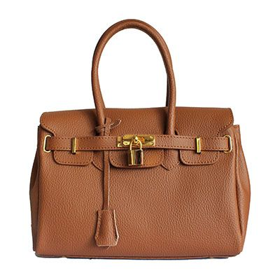 Petite Designer Style Tan Leather Handbag - Down to £34.99 from £54.99