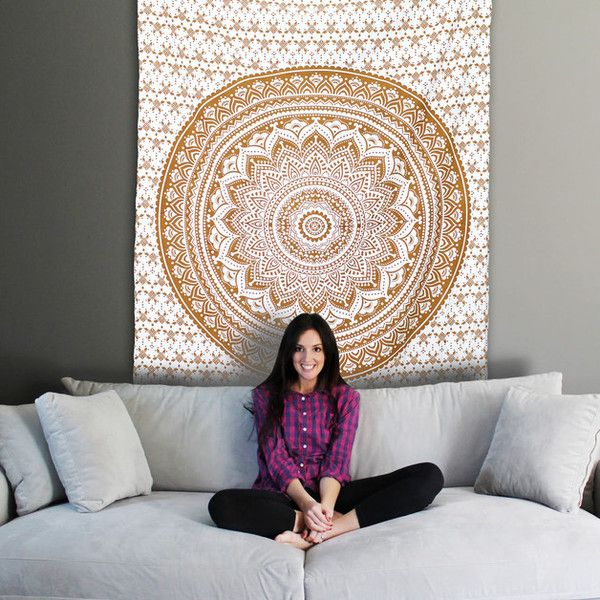 Bedspreads – Boho Wall Art //Tie Dye Decor //Festival Tapestry – a unique product by IndianCraftPalace on DaWanda