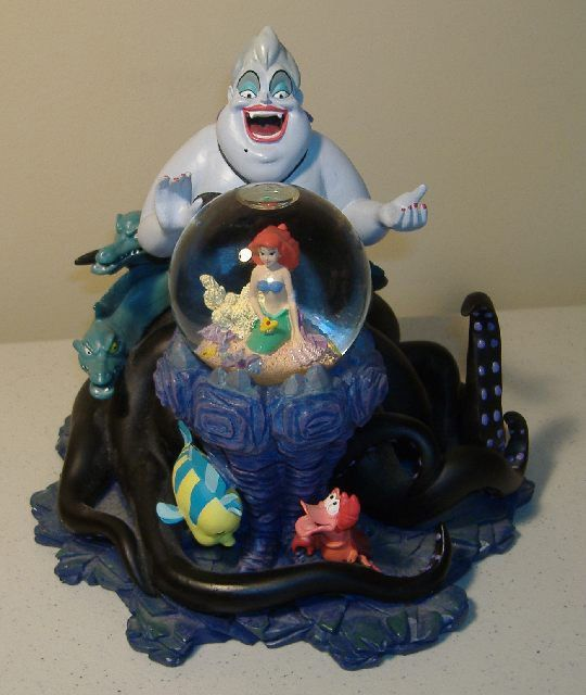 Rare Disney Ursula Amp Ariel Snow Globe The Little Mermaid