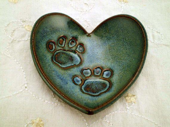 #PawPrint #HeartDish  #pottery #DogLoverGift #CatLoverGift