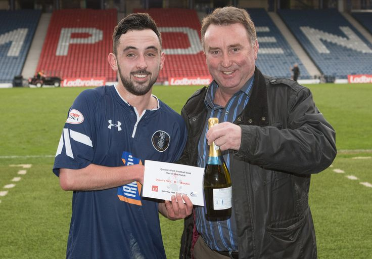 Queen's Park's Anton Brady - Man of the Match after the Ladbrokes League One game between Queen's Park and Brechin City.