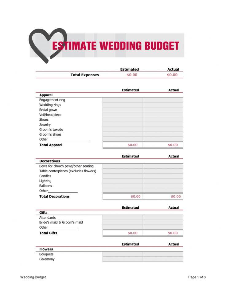 63 best Wedding Ideas images on Pinterest Short wedding gowns - wedding budget calculator