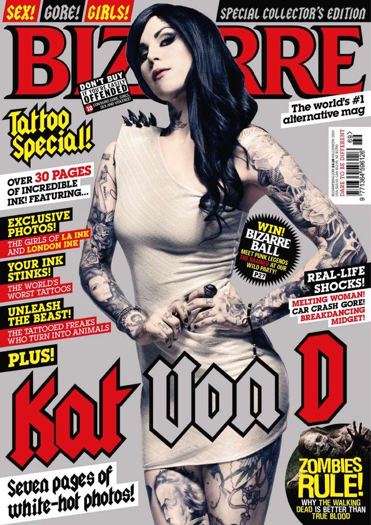 Кэт Вон Ди   Kat Von D голая, фото в журнале Bizarre Великобритания, Halloween