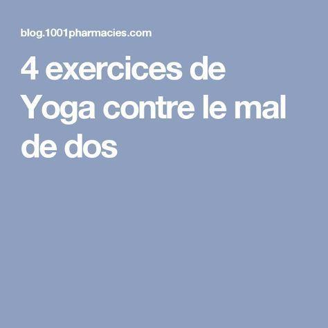4 exercices de Yoga contre le mal de dos
