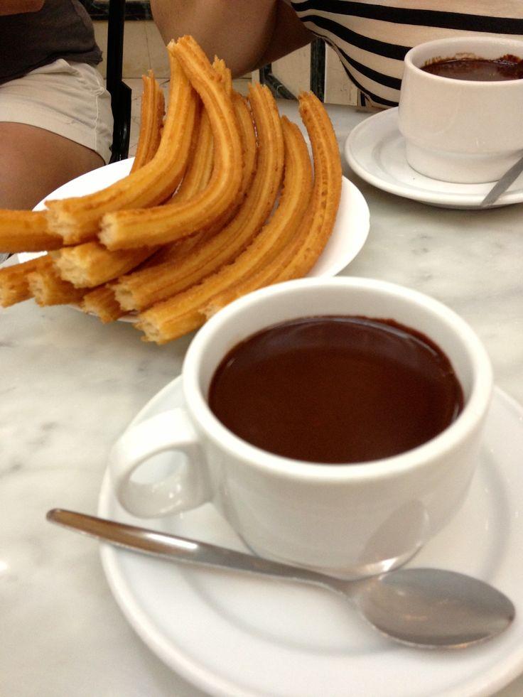 Chocolateria San Gines in Madrid...Churros con Chocolate