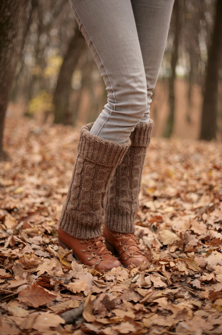 HOLIDAY SALE Free Shipping Brown Hand Knit Leg Warmers Boot Cuffs Boot Warmers Boot Toppers Fall colors knitted warm Accessories Women. $38.00, via Etsy.