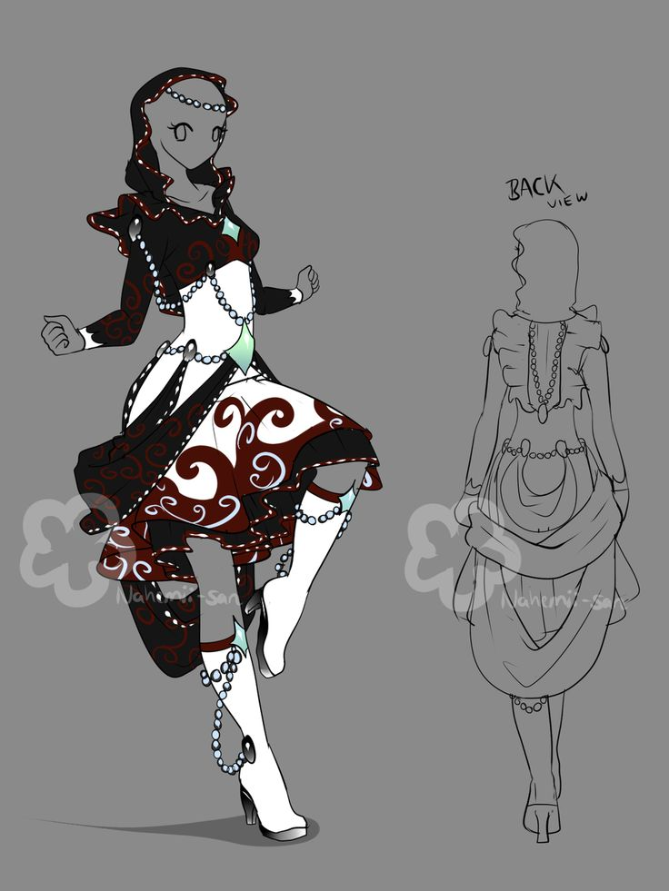 Fantasy Dress Design - sold by Nahemii-san.deviantart.com on @deviantART