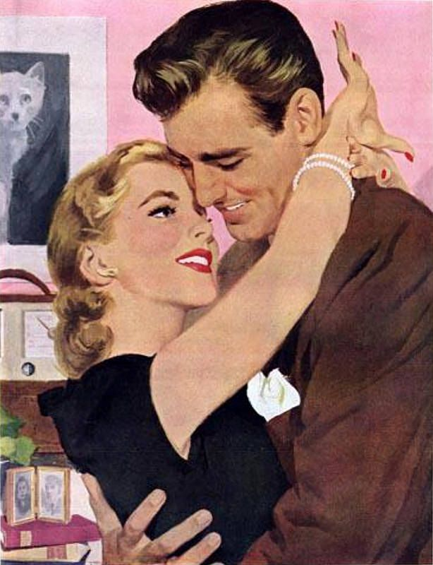 "Harry Fredman  The painting illustrated the story ""Playboy"" in McCall's magazine in November 1949.Flickr - Photo Sharing!"