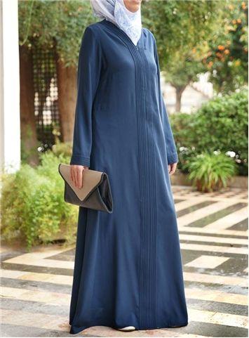 Abaya with Pintucks