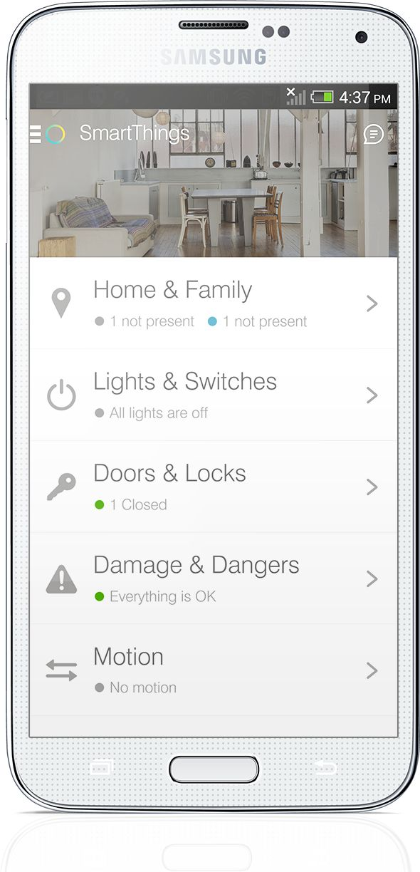 Once you have the SmartThings Hub and free app, you can add as many devices as you want to customize your smart home.