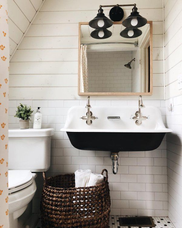 K 3200 Brockway 3 Wall Mounted Wash Sink With 2 Faucet Holes Kohler Bathroom Farmhouse Style Cottage Bathroom Powder Room Sink