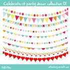 A collection of 9 bunting banners, all graphics are separate PNG files.  FREE and okay for personal and commercial use!