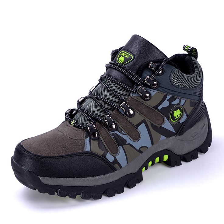 2016 Outdoor Camouflage Climbing Men's Hiking Shoes Waterproof Hunting BootsAutumn/Winter Shoes Mountain Waterproof Sneakers