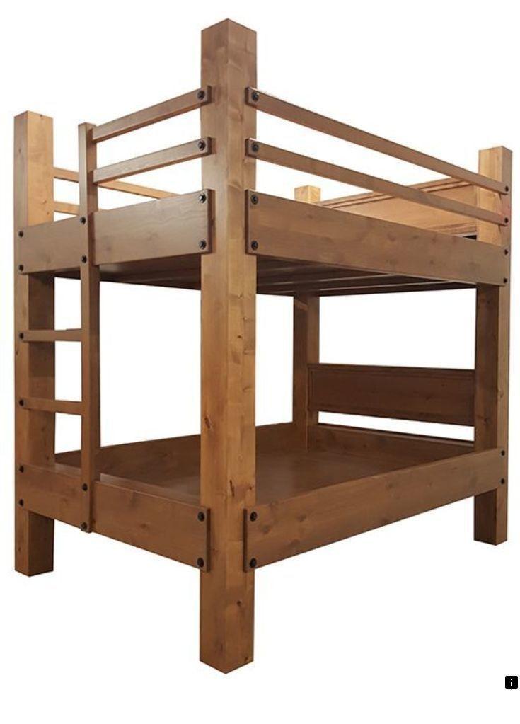 двухъярусная кровать из бруса своими