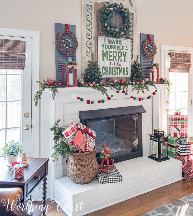 Christmas Mantels Around America   My Very Merry Farmhouse Christmas Mantel