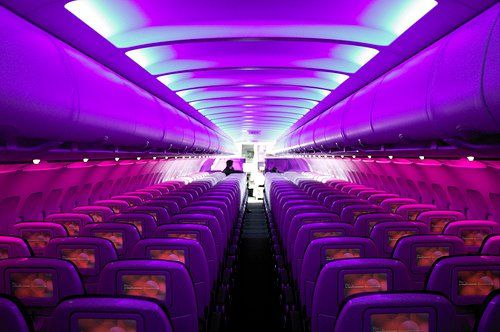 Inside Purple Plane I Love Purple Virgin America