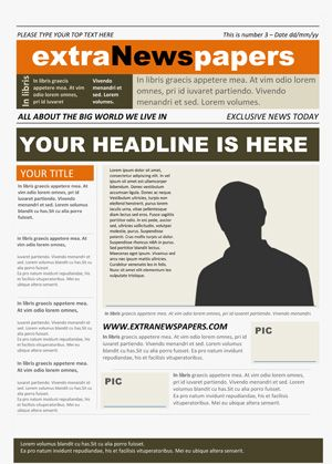 17 Best School Newspaper Templates Images On Pinterest Role Models