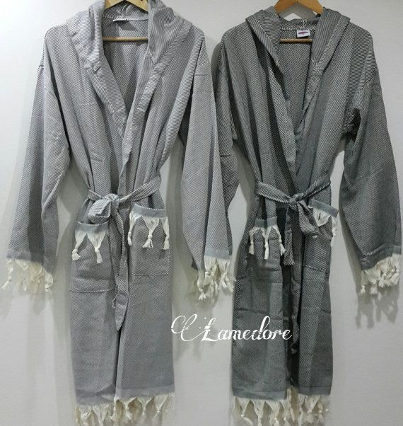 Peshtemal bathrobe Traditional Turkish Peshtemal by LAMEDORE