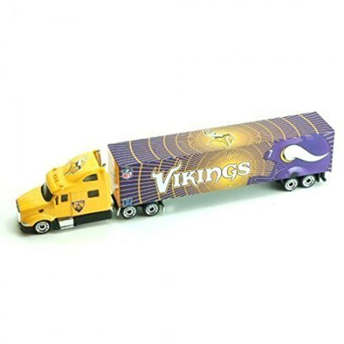 Minnesota Vikings 2011 NFL Limited Edition Die-Cast 1:80 Tractor-Trailer Semi Truck Collectible by Press Pass. Minnesota Vikings 2011 NFL Limited Edition Die-Cast 1:80 Tractor-Trailer Semi Truck Collectible by Press Pass.