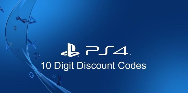 Get PS4 10 Digit Discount Codes 2020 [Updated] in 2020