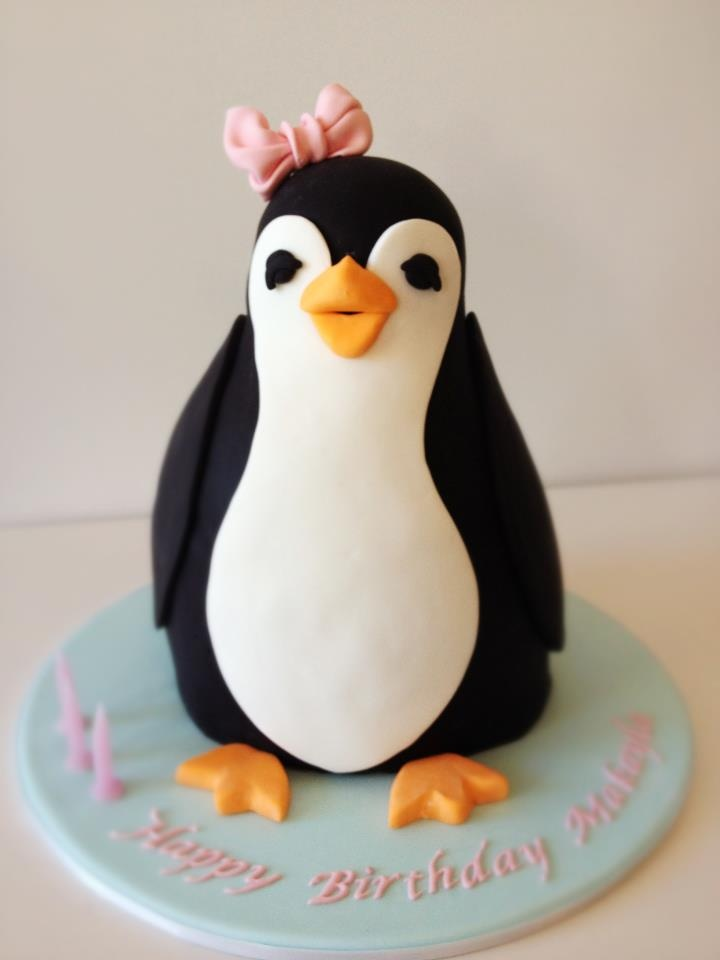 Penguin Cake by Blackbird Cakes