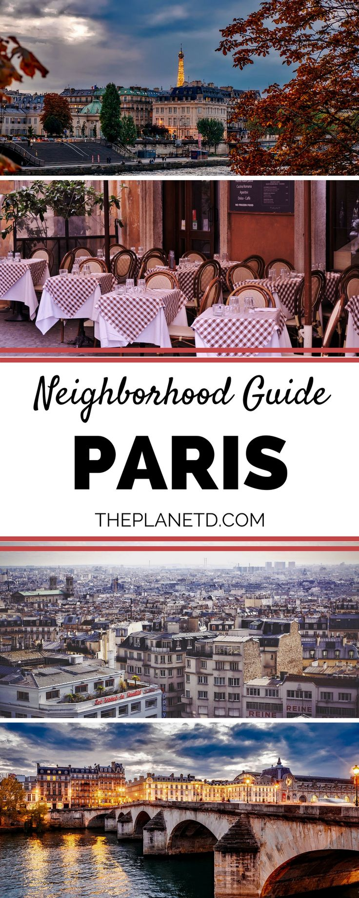Choosing where to stay in Paris can be difficult, especially for first-time visitors. Luckily, we've done all of the hard work for you! This guide is a breakdown of our favorite neighborhoods and what you can see and do in each. Paris is made up of 20 arrondissements and each offers its own pros and cons. Complete Paris Neighborhood Guide. | Blog by the Planet D