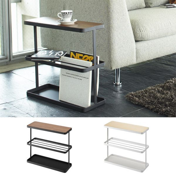 Arne Interior: Side Table Bed Table Compact Sofa Side Storing Bedside  Magazine Storing North Europe Slim Thin Space Saving Bed Table Tower  (tower) White ...
